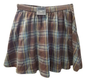 Lands' End Skirt Brown and multi