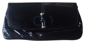 Gucci Bamboo Patent Leather black Clutch