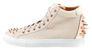 Ruthie Davis High Top Sneaker Leather Beige Athletic
