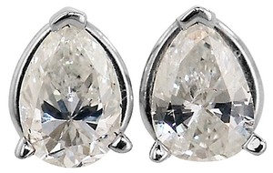 ABC Jewelry Diamond Pear Shaped Earrings All Natural.45TCW H/Si2 14k White Gold Made In USA