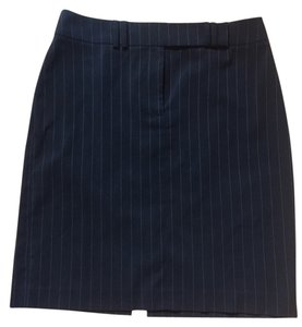Tahari Pinstripe Skirt Navy pinstriped