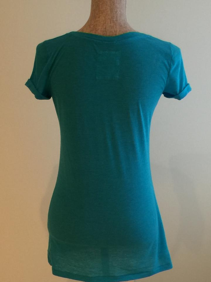 Hollister long deep scoop neck with roll up sleeves size for Deep scoop neck t shirt