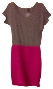 Poof Couture short dress Grey Top Pink Bottom on Tradesy
