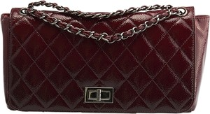 Chanel Caviar Patent Quilted Mademoiselle Shoulder Bag