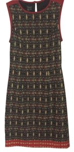 Muse short dress Cream, black, red and orange ikat print on Tradesy