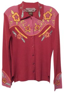 Double D Ranchwear Ranch Embroidered Linen Western Shirt Cardigan