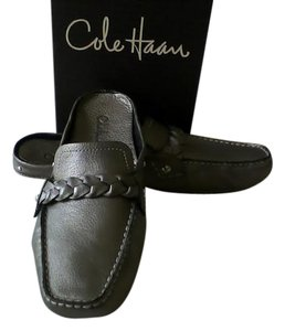 Cole Haan Slide Mule Soft Classic Pewter Metallic Flats