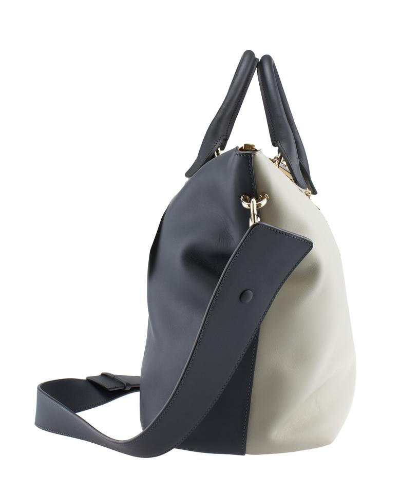 chloe baylee grey black leather tote