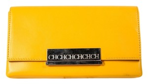 Carolina Herrera Leather Nude Leather Yellow Clutch