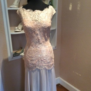 Montage Foundation Chiffon and Lace 114906 Formal Bridesmaid/Mob Dress Size 10 (M)
