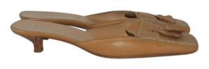 Prada Leather Italian tan Mules