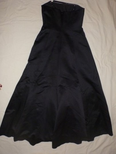 Michelangelo Black with White Accents Satin F 1286 Formal Bridesmaid/Mob Dress Size 10 (M)