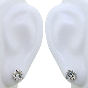 ABC Jewelry Diamond Earrings Radiant Cut Not Enhanced .53tcw J/Si2 14k White Gold Made In US
