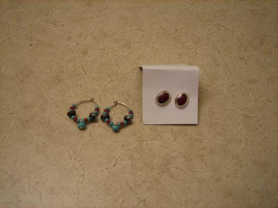 American Eagle Outfitters Two pairs of Silver earrings