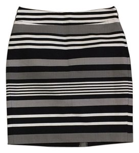 Banana Republic Business Pencil Work Professional Skirt Black/Gray Multi