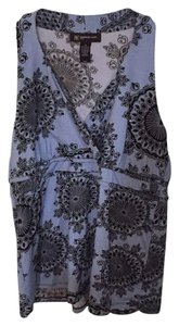 INC International Concepts Top Black Blue