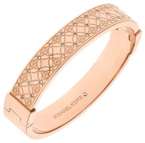 Michael Kors Michael Kors MKJ4472791 Monogram Rose gold Tone Pave Crystal Bangle Bracelet MKJ4472 NEW! $165