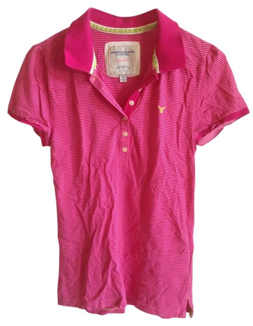American Eagle Outfitters Pink Tee Shirt Size 8 M Tradesy