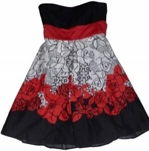 Trixxi short dress Red, Black and White on Tradesy