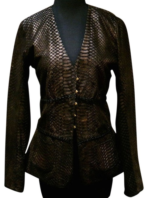 Preload https://item5.tradesy.com/images/blackbronze-python-embossed-leather-jacket-size-10-m-1262174-0-0.jpg?width=400&height=650