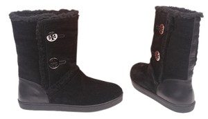Tory Burch Genuine Leather Black Boots