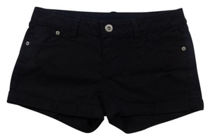 Blue Asphalt Distressed Stretchy Cuffed Shorts Black