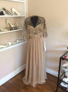 Montage Taupe Beaded Lace and Chiffon 114923 Formal Bridesmaid/Mob Dress Size 22 (Plus 2x)
