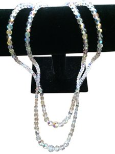 Other Double Strand Swarovski AB Crystal Necklace With Crystal Clasp