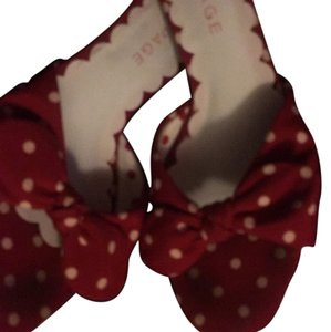 Rampage Red with white poka dots Sandals