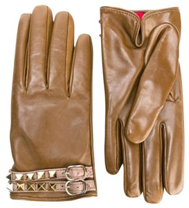 Valentino Rockstud cashmere lined gloves size 7 NWT