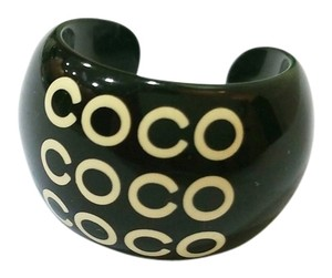 Chanel Authentic Chanel Black COCO Ring