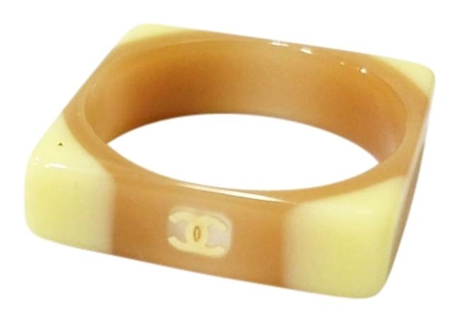Item - Beige and Brown Square Ring