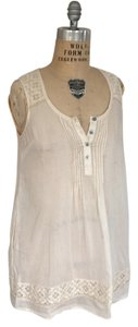 Maeve Anthropologie Tunic Lace Top ivory