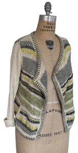 Anthropologie Moth Metallic No Closure Sweater