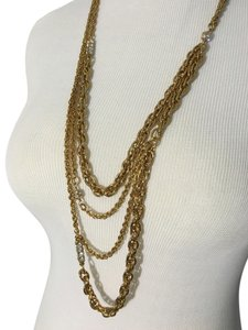 J.Crew Multi-Chain necklace with rhinestones