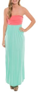 Pink/Mint Maxi Dress by Coveted Clothing Maxi