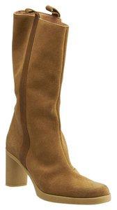 Robert Clergerie Suede Midcalf Tan Boots