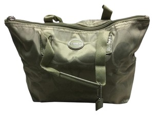 Coach Getaway Nylon Small Tote Weekender Sage Travel Bag