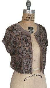 Dolan Anthropologie Embellished Bolero Top nude motif