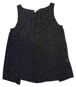 Nordstrom Top Black with white polka dots