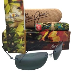 Maui Jim Rimless MAUI JIM Sunglasses FRIGATE MJ 716-06 Gunmetal Blue Frame w/Neutral Grey Lenses