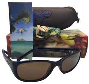 Maui Jim Polarized Maui Jim Sunglasses MJ 286-26C KUIAHA BAY Rootbeer Blue Frame w/Bronze Lenses