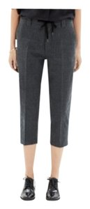 Chimala Cropped Wool Capri/Cropped Pants Black and gray houndstooth