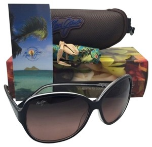 Maui Jim Polarized Maui Jim Sunglasses MJ 294-02K MAILE Black On Clear Frames w/Maui Rose Lenses