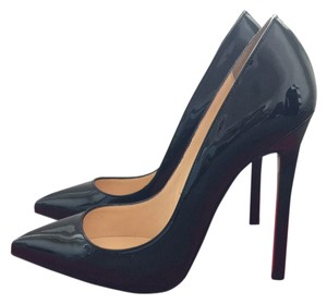 Christian Louboutin 120mm Pigalle Black Patent Pumps