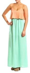 Mint/Apricot Maxi Dress by Coveted Clothing