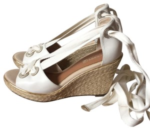 Sperry White and beige Wedges