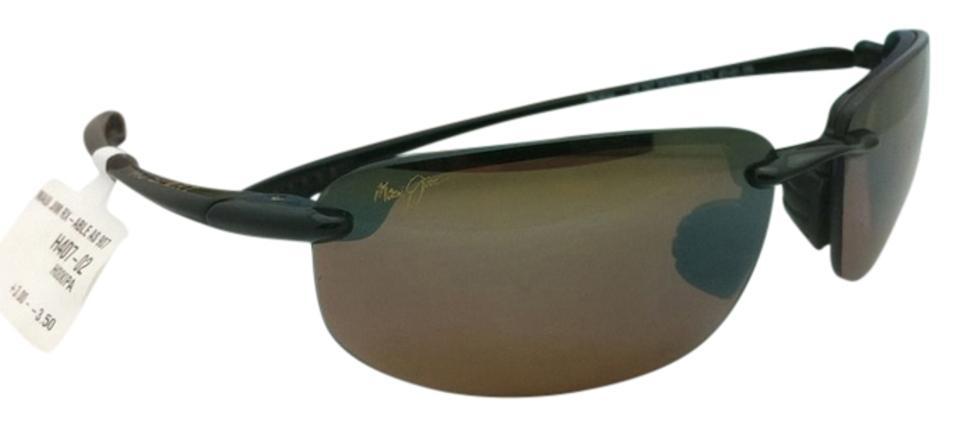 38b13d749aa Maui Jim New MAUI JIM Polarized Sunglasses HO OKIPA MJ H 407-02 Black ...