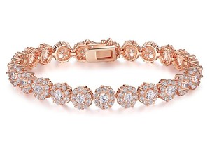 Rose Gold Cz Bridal Bracelet