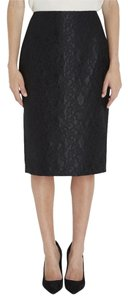 ADAM Lace Hidden Back Zip Skirt Black